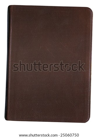 Leather Bound Book with Clipping Path