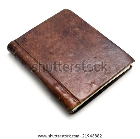 leather bound note book - stock photo