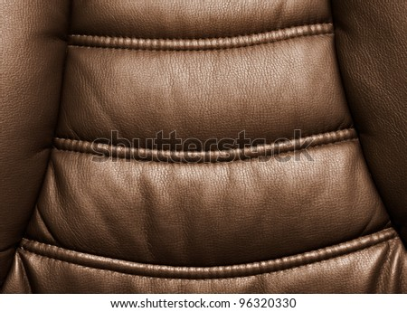 Leather chair close-up. Leather texture material