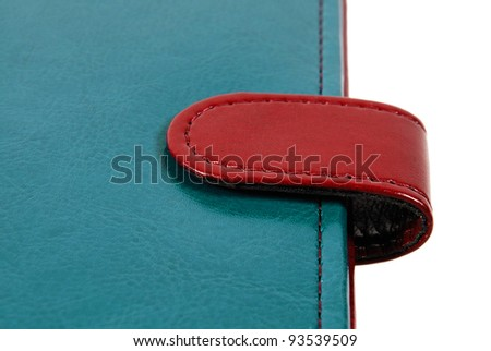 Leather cover binder