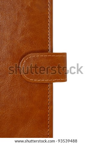 Leather cover with binder