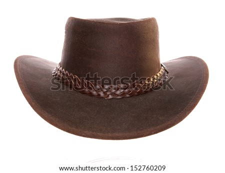 Leather Cowboy Hat studio cutout Stock photo ©