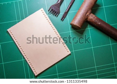 Leather craft tools.