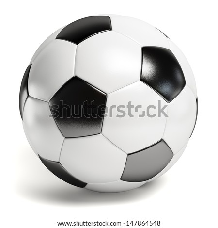 Shutterstock Leather football. Single soccer ball isolated on white background