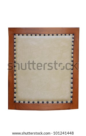 Leather frame for background usage
