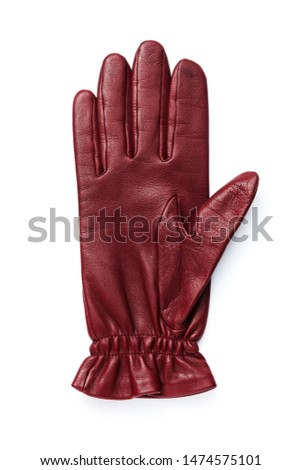 leather glove on a white background.