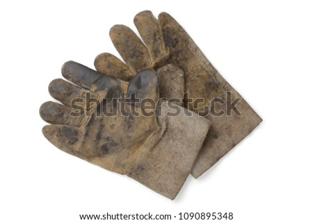 leather glove protect hand for working.