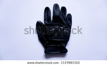 leather glove with white background
