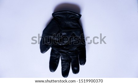 leather glove with white background, type 2.