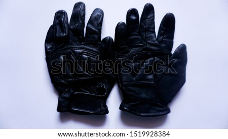 leather gloves, type 1, with white background.