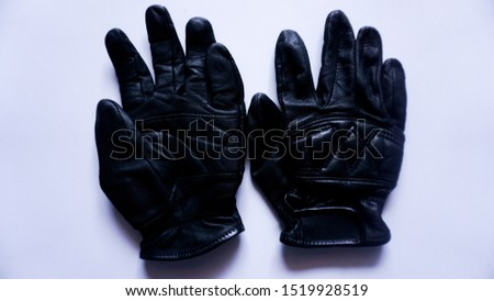leather gloves, type 3, with white background.