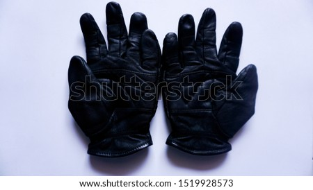 leather gloves, type 4, with white background.