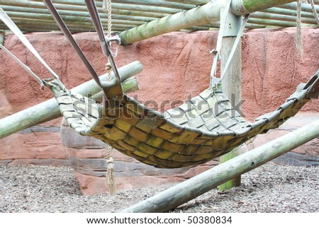 Leather hammock for large animal