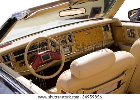 leather interior beige old classic car stock photo 34959856 shutterstock. Black Bedroom Furniture Sets. Home Design Ideas