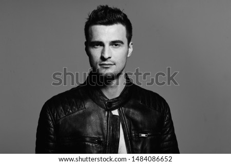 Sad Man With Leather Jacket Images And Stock Photos Page