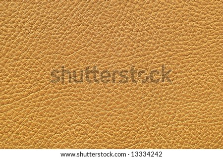 Leather of brown color