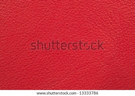 Leather of red color