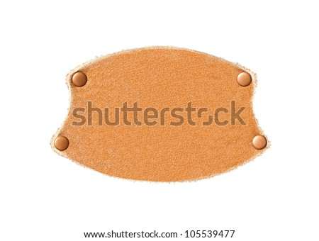 Leather patch isolated on a white