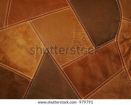Leather Patchwork Fabric Background