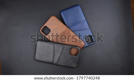 Leather Phone Case Protector Design Foto stock ©