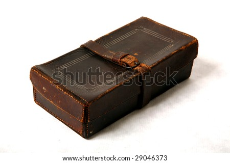 leather purple heart case from world war two