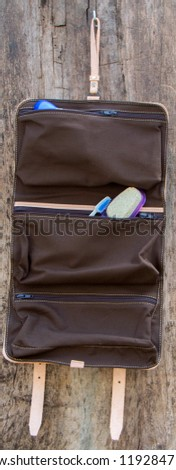 Leather roll up Dopp Kit for travel. Unisex for women, man, family's.Dopp Kit is handmade of natural leather, and the interior of the canvas can be removed and washed. #1192847179