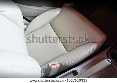 Leather seat of car #1027519333