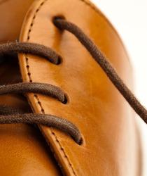 leather shoe closeup