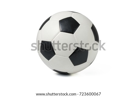 Shutterstock Leather soccer ball isolated on white background