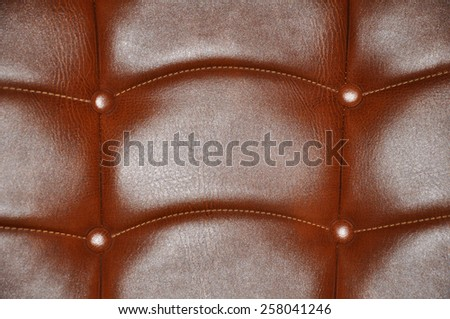 Leather surface of furniture