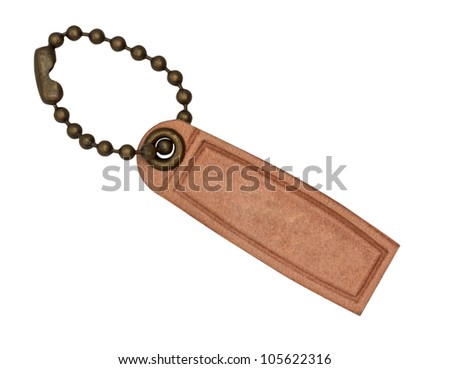 Leather Tag Label isolated on white background