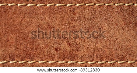 leather with seam, belt background.