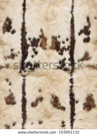 Leathers of rabbits with pattern, four pieces