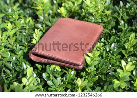 Leatherworking handmade wallet #1232546266