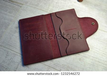 Leatherworking handmade wallet #1232546272