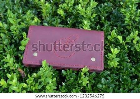 Leatherworking handmade wallet #1232546275