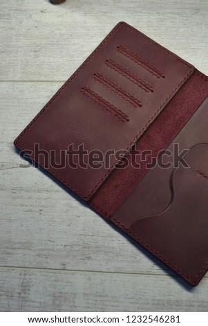 Leatherworking handmade wallet #1232546281