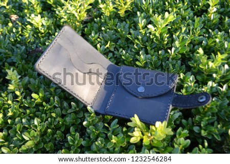 Leatherworking handmade wallet #1232546284
