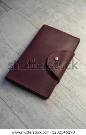 Leatherworking handmade wallet #1232546290