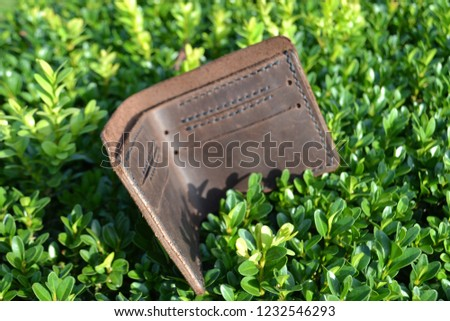 Leatherworking handmade wallet #1232546293