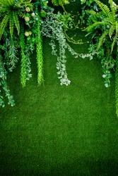 leave background. wedding flower decoration  . flower backdrop background
