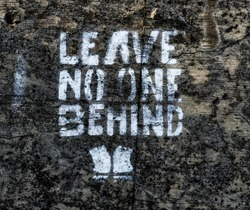 Leave no one behind graffito
