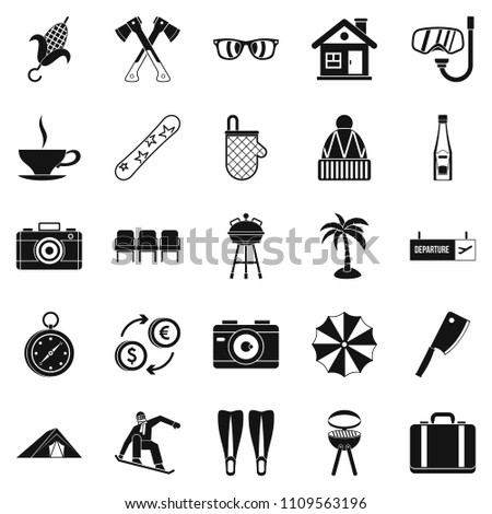 Leave of absence icons set. Simple set of 25 leave of absence icons for web isolated on white background
