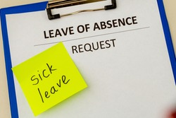 Leave of absence request statement form.