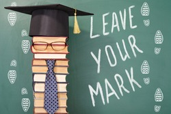 Leave your mark, funny education concept 2