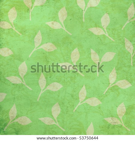 Leaves Background with light grunge
