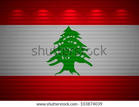 Lebanese flag wall, abstract background