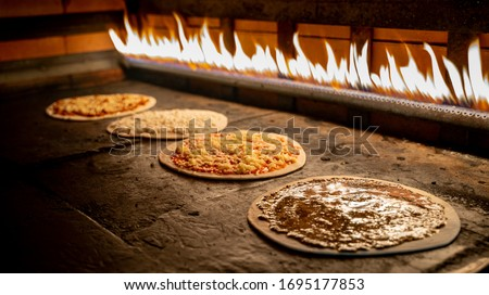 Lebanese food Manakish  baked in the oven oven