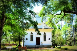 Lebanon Chapel at Airlie Gardens in Wilmington, North Carolina