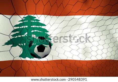 LEBANON soccer ball Color Vintage #290548391